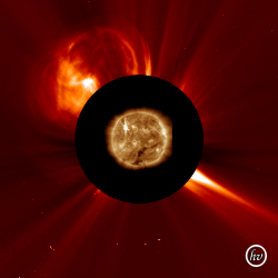 SOHO/Lasco Image of the CME launch